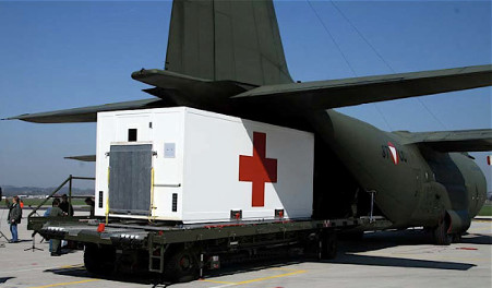 Transfair Medical Container Module Being Loaded Onto A